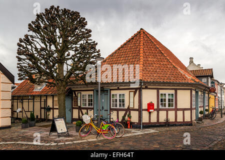 Houses in the old part of Odense, Denmark - Stock Photo