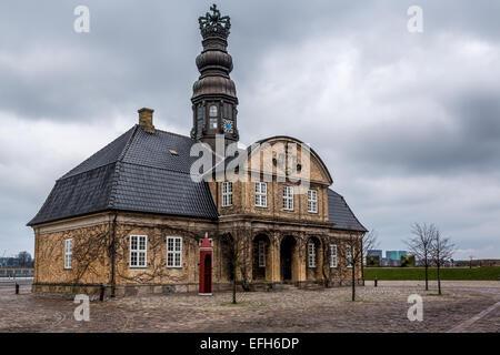 Nyholm Central Guardhouse, Holmen naval base, Copenhagen, Denmark - Stock Photo