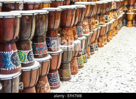 Darbuka Arab market in the Old City of Jerusalem. Israel. - Stock Photo
