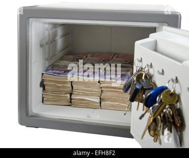 cut out image of combination domestic safe - Stock Photo