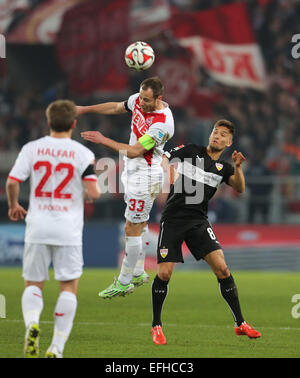 Cologne, Germany. 4th February, 2015. Soccer - 1. FC Koeln vs VfB Stuttgart, Bundesliga: Matthias Lehmann (Koeln, - Stock Photo