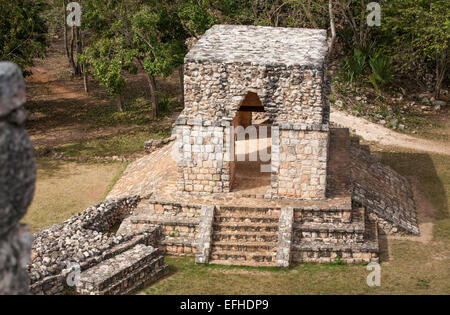 Ek' Balam Entrance Arch. A ceremonial entrance to the old city it stands on the old road. Ruins, Ekbalam, Yucatan, - Stock Photo
