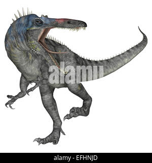 3D digital render of a dinosaur Suchomimus or Suchomimus tenerensis isolated on white background - Stock Photo
