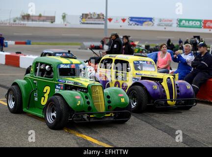 Auto Clearing Motor Speedway racing circuit, Saskatoon, Saskatchewan, Canada - Stock Photo