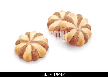assorted biscuits on white - Stock Photo