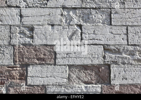 Old rough stonework texture close-up - Stock Photo