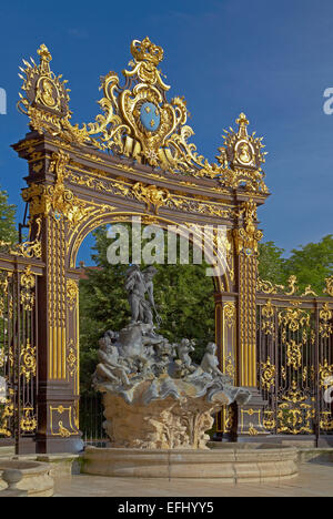 La Place Stanislas in Nancy, Unesco World Cultural Heritage, Meurthe-et-Moselle, Region Alsace-Lorraine, France, Europe Stock Photo