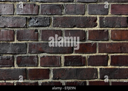 Texture of dark old brickwork - Stock Photo