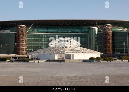 Meydan Racecourse (former Nad Al Sheba Racecourse) in Dubai - Stock Photo