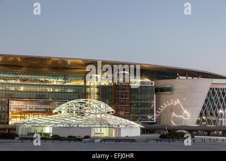 Meydan Race Club  (former Nad Al Sheba Racecourse) in Dubai - Stock Photo