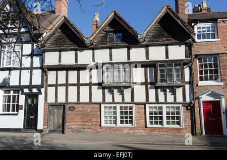 Timber-framed house in the pretty Georgian town of Bewdley in Worcestershire - Stock Photo