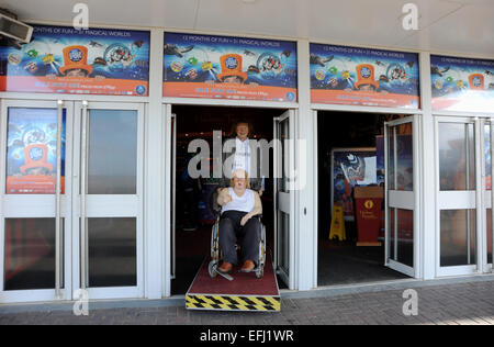 Blackpool Lancashire UK - Madame Tussauds with waxworks characters from TV show Little Britain - Stock Photo
