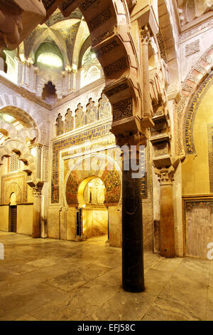 Cathedral interior, inside the Mezquita (Great Mosque), Cordoba Stock Photo, ...