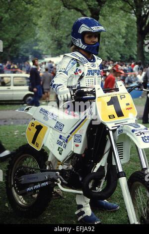 500cc Motor Cross World Champion Patrick Boniface in London - Stock Photo