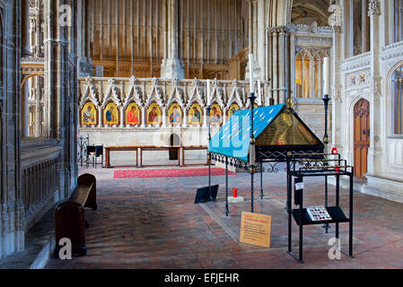 Shrine of St Swithun in Winchester Cathedral, Hampshire, England UK - Stock Photo