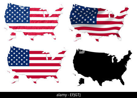 USA Map Collage With Flag Stock Photo Royalty Free Image - Us map flag