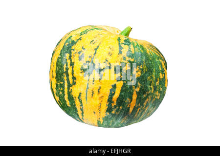 Pumpkin isolated on a white studio background - Stock Photo