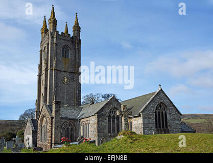 The Parish Church of St Pancras at Widecombe -in-the-Moor , Dartmoor National Park, Devon, UK. - Stock Photo