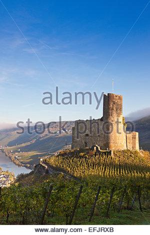 Landshut castle in Bernkastel-Kues, Rheinland-Pfalz, Germany - Stock Photo