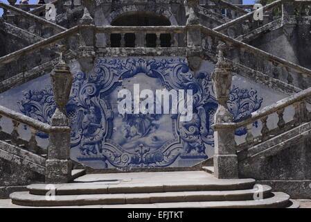 Santuary Nossa Senhora dos remedios Lamego, Portugal - Stock Photo