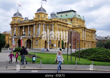 Croatian National Theater, Zagreb, Croatia - Stock Photo