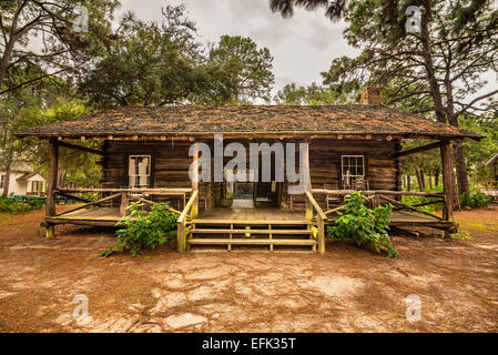 McMullen-Coachman Log House in the Pinellas County Heritage Village - Stock Photo