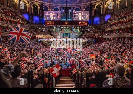 Last Night of the Proms at Royal Albert Hall, London, UK. - Stock Photo