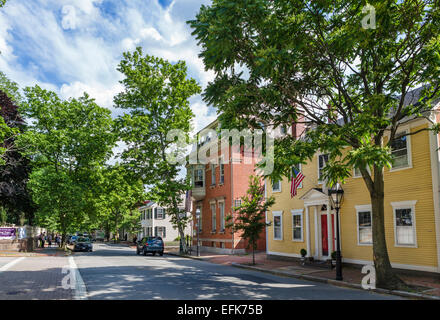 Benefit Street, College Hill Historic District, Providence, Rhode Island, USA - Stock Photo