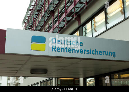 german authority for retirement payment, photo: January 14, 2015. - Stock Photo