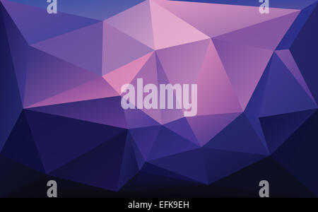 Abstract geometric polygon pattern with  triangle parametric shape - Stock Photo