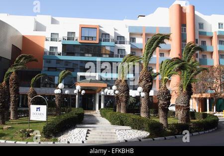 Holiday resorts of Bugibba, Qawra and St Pauls Bay in Malta. Dolmen Hotel, Bugibba on January 31st 2015  Photo by - Stock Photo