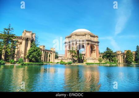 The Palace of Fine Arts in San Francisco, California - Stock Photo