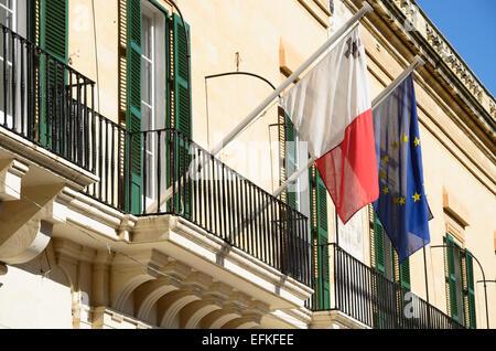 Valletta is the capital of Malta - Stock Photo