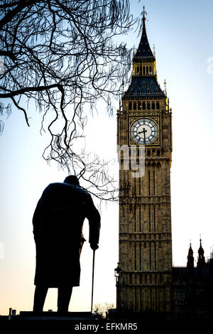 Big Ben is the nickname for the Great Bell of the clock also known as Clock Tower and Elizabeth Tower. - Stock Photo