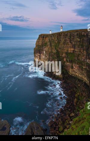 Dunnet Head lighthouse, Caithness - Stock Photo