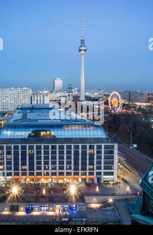 Panoramic view from Dome Roof Top to Alex , Berlin, Germany - Stock Photo