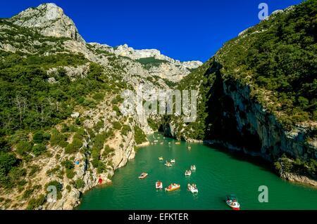 les Gorges du Verdon vue du pont du Galétas lac de ste Croix var 83 France - Stock Photo