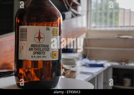 Bottle of methylated spirits stock photo 1417556 alamy for Denatured alcohol for fireplace
