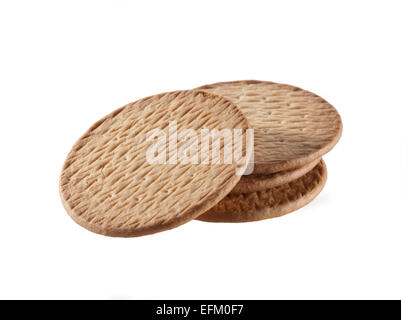 Crackers on white background - Stock Photo