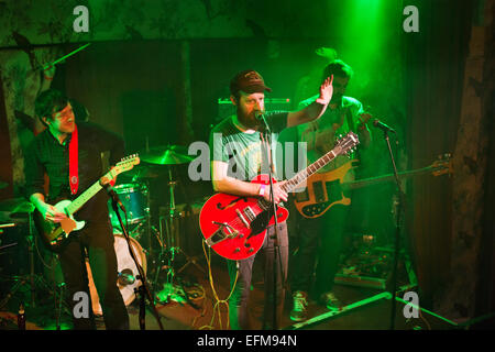 Indie rock group The Phantom Band in concert at The Deaf Institute, Manchester, UK, 6th February, 2015. Fronted - Stock Photo