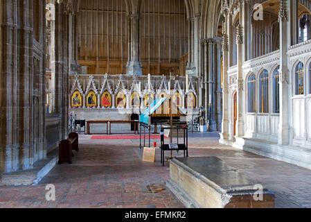 Winchester Cathedral, Hampshire, England UK - Stock Photo