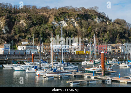 Dover Marina and Seafront  Kent England - Stock Photo