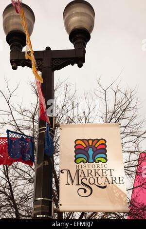 Market Square San Antonio Texas Usa Stock Photo