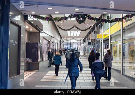 Piccadilly arcade Birmingham shopping mall - Stock Photo
