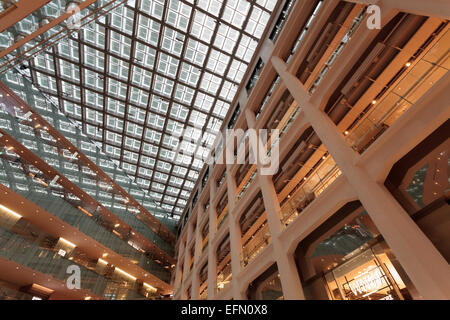 Japan Post (JP) Tower shopping mall with glass roof in Maranouchi, Tokyo, Japan  Friday January 30th 2015. - Stock Photo
