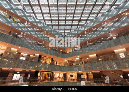 Attractive Japan Post (JP) Tower Shopping Mall With Glass Roof In Maranouchi, Tokyo,