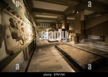 The Istanbul Archaeology Museums, housed in three buildings in what was originally the gardens of the Topkapi Palace - Stock Photo