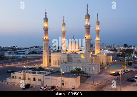 Zayed Mosque in Ras al-Khaimah, United Arab Emirates - Stock Photo