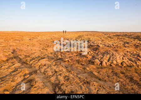 Desert near Dallol in Ethiopia - Stock Photo