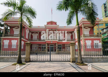 Macau Government Headquarters, formerly the Governor's Palace, Macau, China - Stock Photo